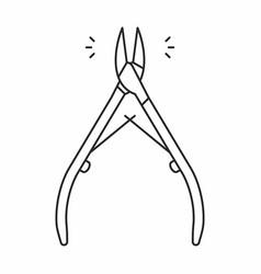 Cuticle nipper icon vector