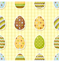 Easter pattern with colorful different eggs vector image vector image
