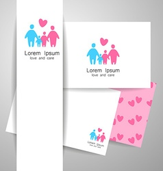 Family love logo template vector