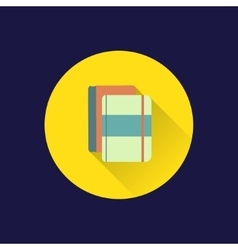 Flat books icon vector image
