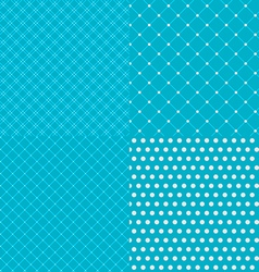 Geometric tiles with dotted seamless patterns vector image