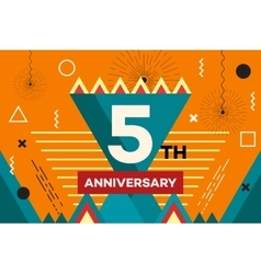 Happy anniversary placard hipster abstract vector