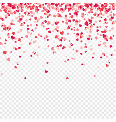 Heart confetti valentines womens mothers day vector