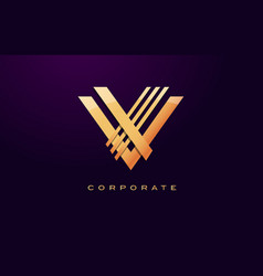 Letter v logo v letter design vector