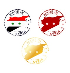Made in syria stamp vector