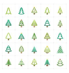 Mini icon set - christmas tree icon vector