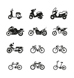 motorcycle motorbike scooter chopper and vector image