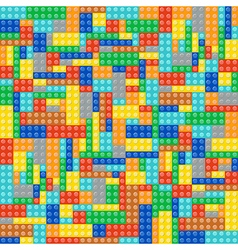 Multicolor brick blocks vector image