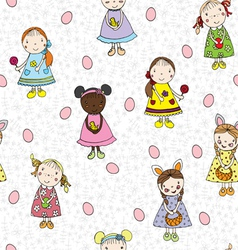 Passover pattern with children vector