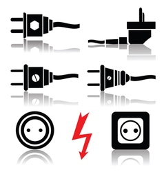 plugs and sockets vector image