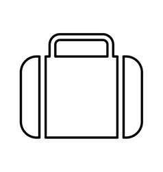 portfolio flat line icon vector image