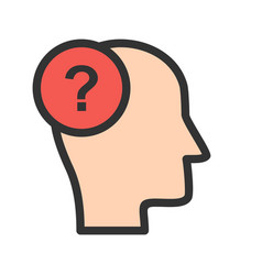 questioning skills vector image vector image