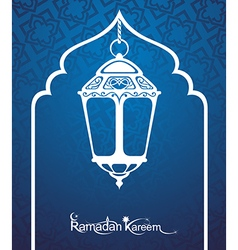 Ramadan Kareem Pattern Window Mosque vector image