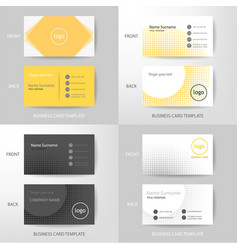 set of modern and clean business card design vector image vector image