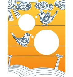 Speaking birds on wires vector image