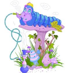 The blue caterpillar vector
