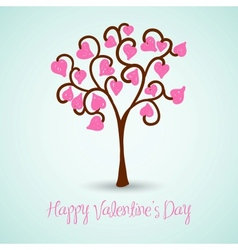 Valentines Day Tree vector image vector image