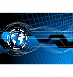vector blue background vector image vector image
