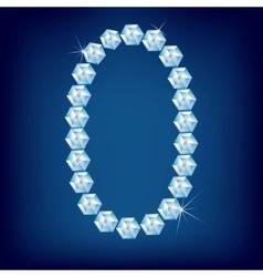 vector diamond alphabet lette o vector image vector image