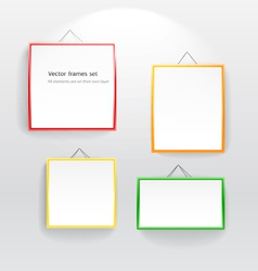 Blank color boards different sizes on wall vector