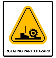 Rotating parts hazard sign vector