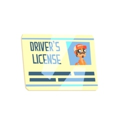 Trucker driving license truck driver job related vector