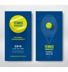 Tennis championship poster vector