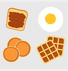breakfast menu items vector image