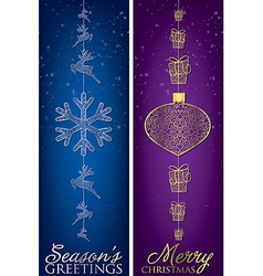 Formal christmas filigree banners in format vector