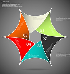Hexagon star on dark background vector