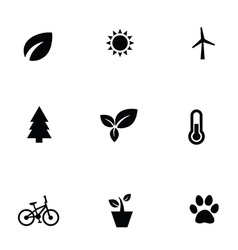 Ecology 9 icons set vector