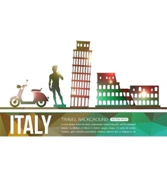 Italy travel background with place for text vector