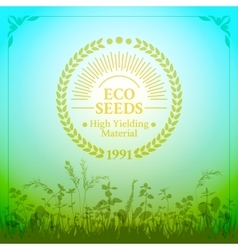 Badge in retro style for ecologically pure seeds vector