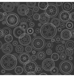 Cogs and gears seamless background vector