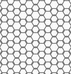 Flat gray with hexagonal bee grid vector