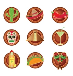 Mexico icon in mexico style vector