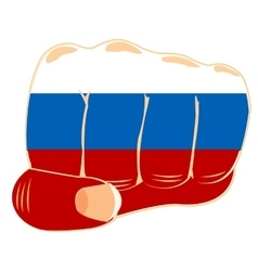 Flag to russia on fist vector