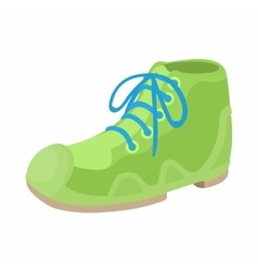 Green boot icon in cartoon style vector