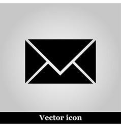 Postal envelope sign on grey background vector