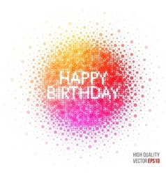 Happy birthday beautiful design element for vector
