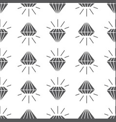 Abstract grey seamless pattern with diamonds vector
