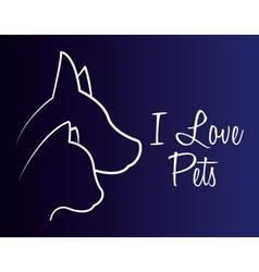 Animals pet shop graphic vector image