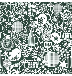 Beautiful seamless texture with flowers vector image vector image