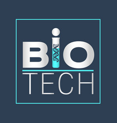 Biotechnology logotype logo icon design vector