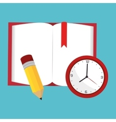 book opne and watch study school vector image