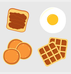 Breakfast menu items vector