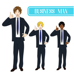 Business man thumb up vector