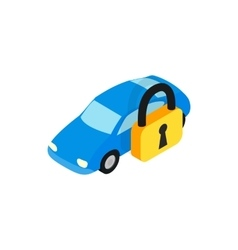 Car under arrest icon isometric 3d style vector image vector image