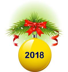 christmas ball 2018 vector image vector image