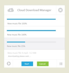 Cloud download manager vector